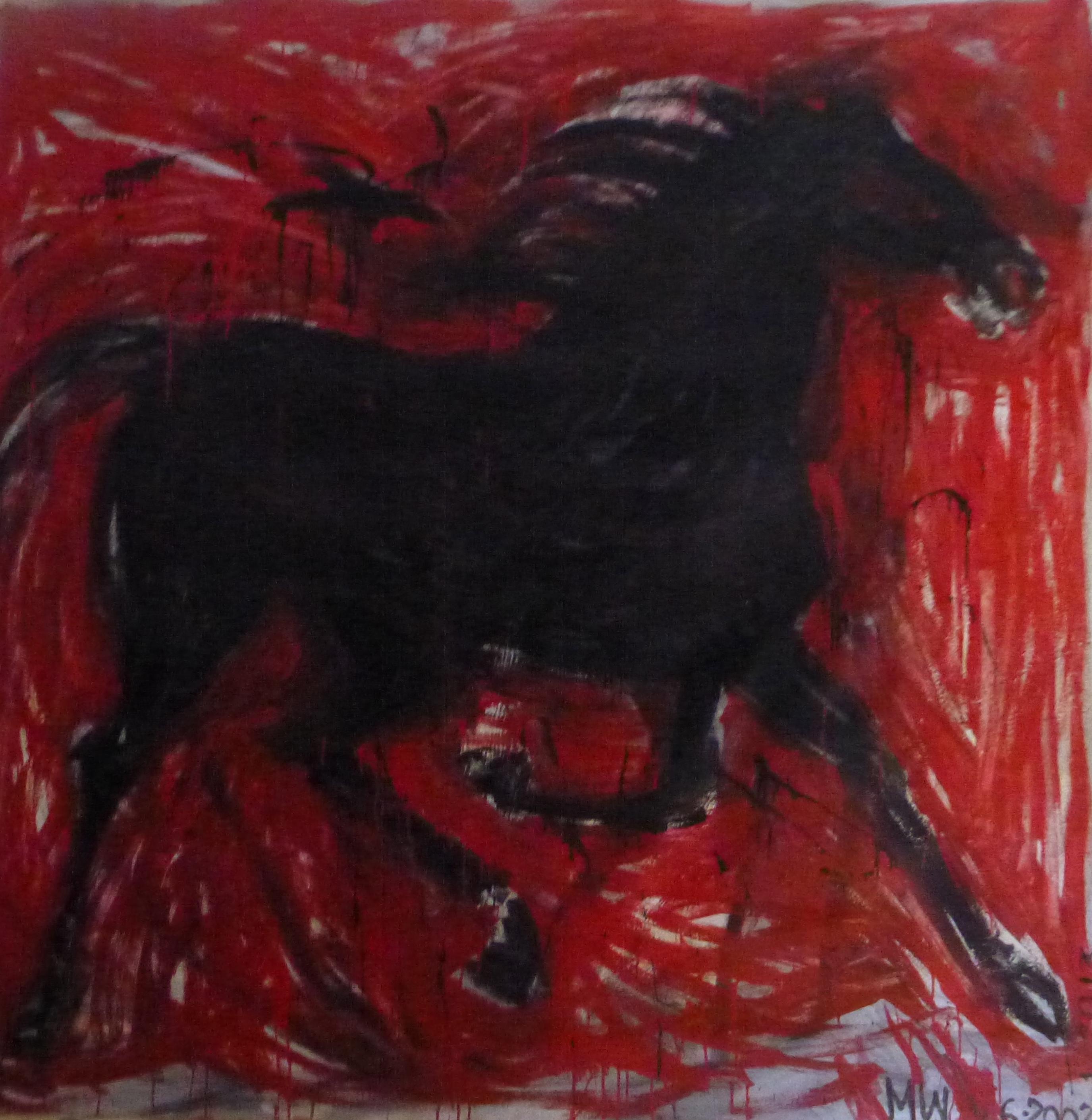 black:red horse