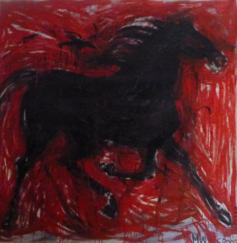 black:red horse