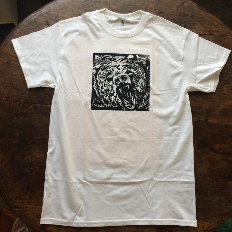 growling bear tshirt-