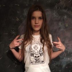 joanna-skull print t-shirt