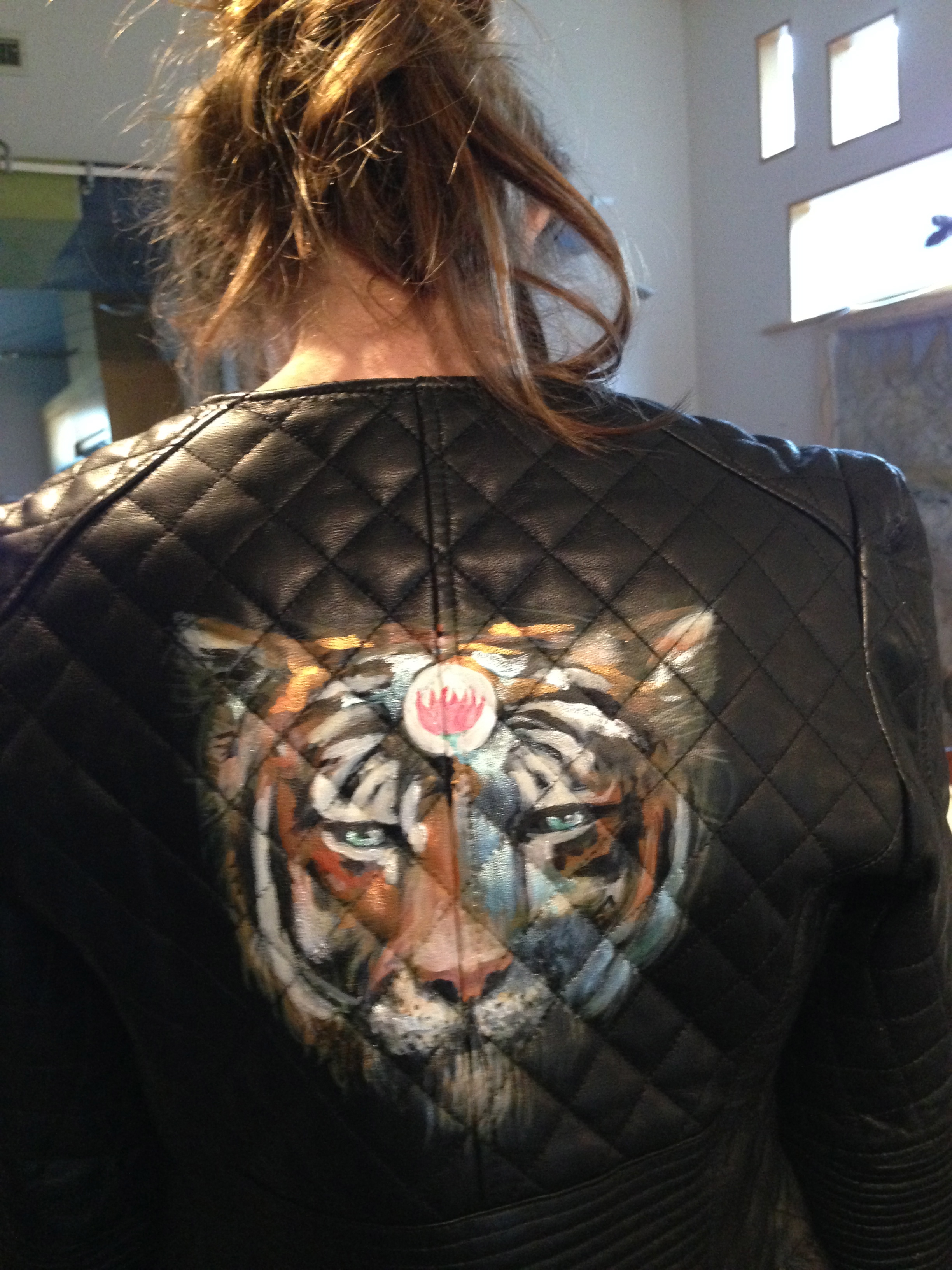 tiger on black-model